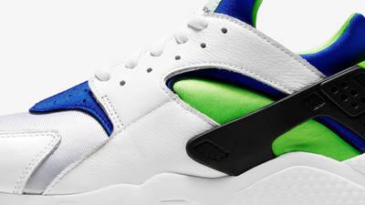 Nike Air Huarache Scream Green Side Closeup
