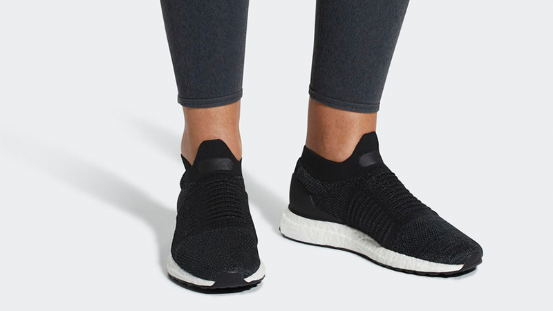 adidas Ultra Boost Laceless Black Womens
