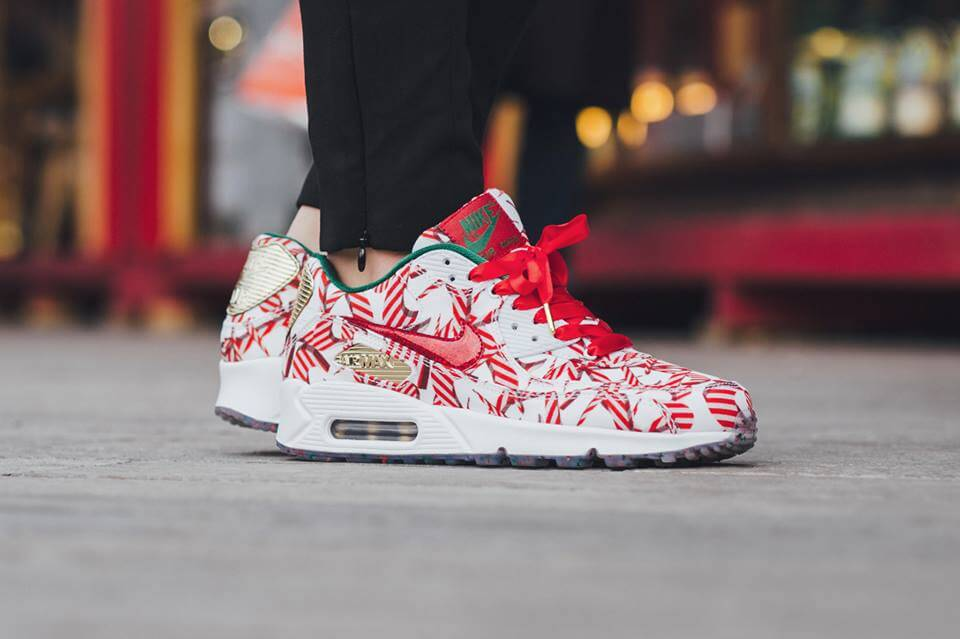 The nike air tech challenge 3 christmas edition goes ugly sweater.