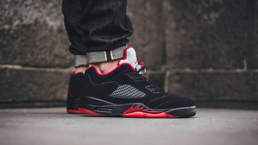 Nike Air Jordan 5 Low Alternate Black Red | Where To Buy | 819171 ...