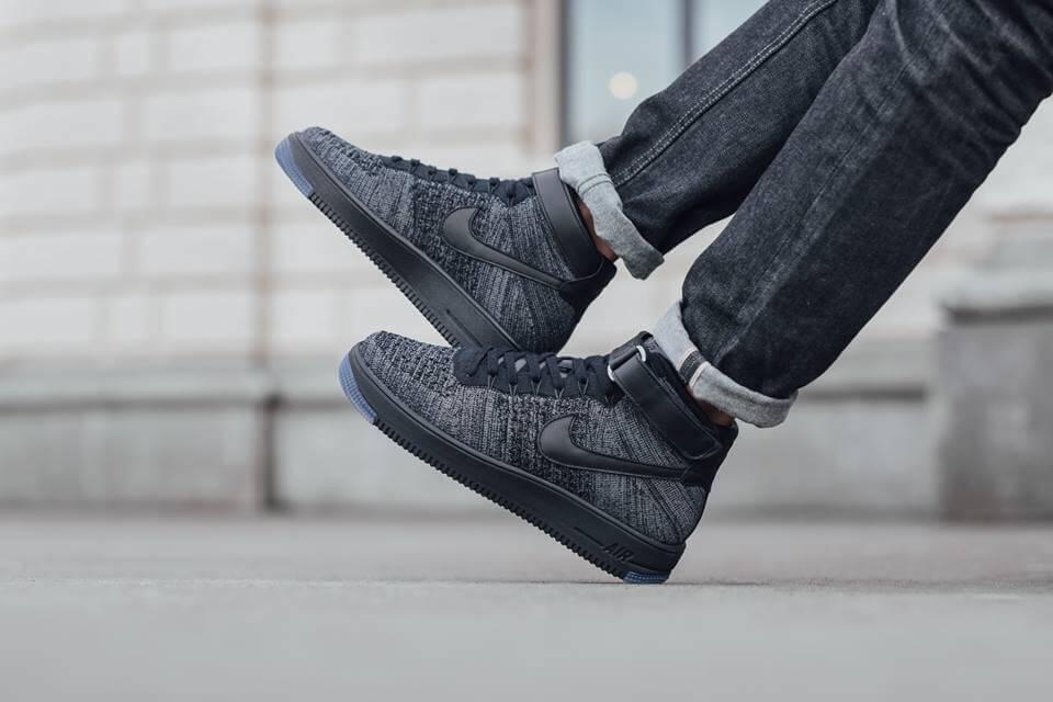 nike air force one black grey
