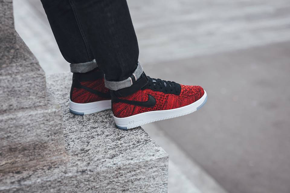 Nike Air Force 1 High Flyknit Red Nike Air Force 1 Low