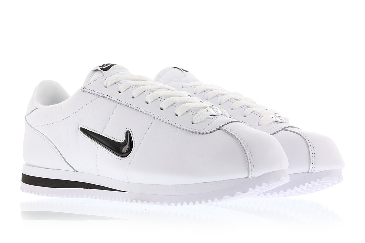 Black Nike Cortez QS Basic White Jewel PXkZiOTu