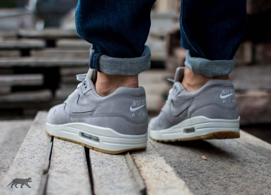 Nike Air Max 1 LTR PRM Grey Where To Buy 705282 005