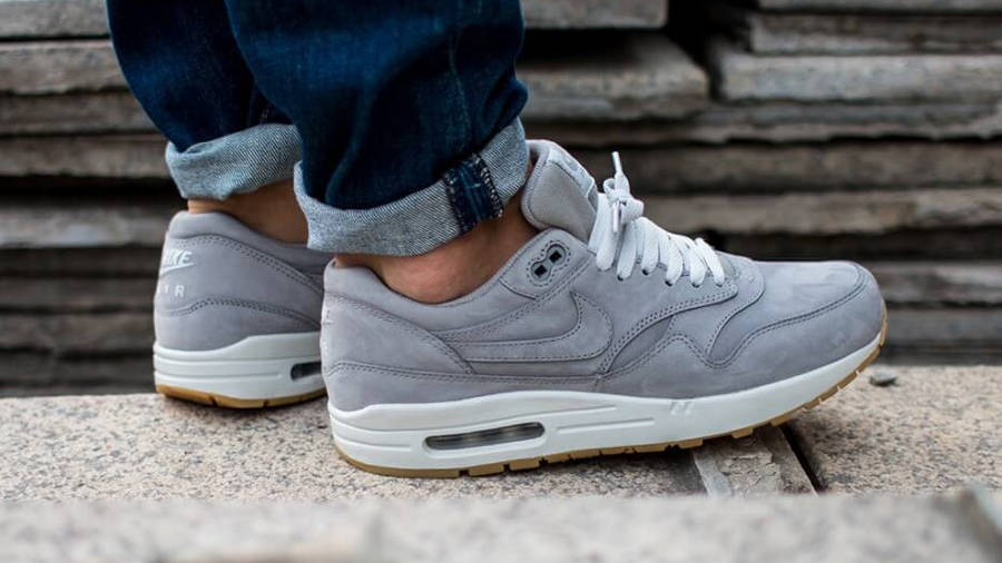 Nike Air Max 1 LTR PRM Grey   Where To Buy   705282-005   The Sole ...
