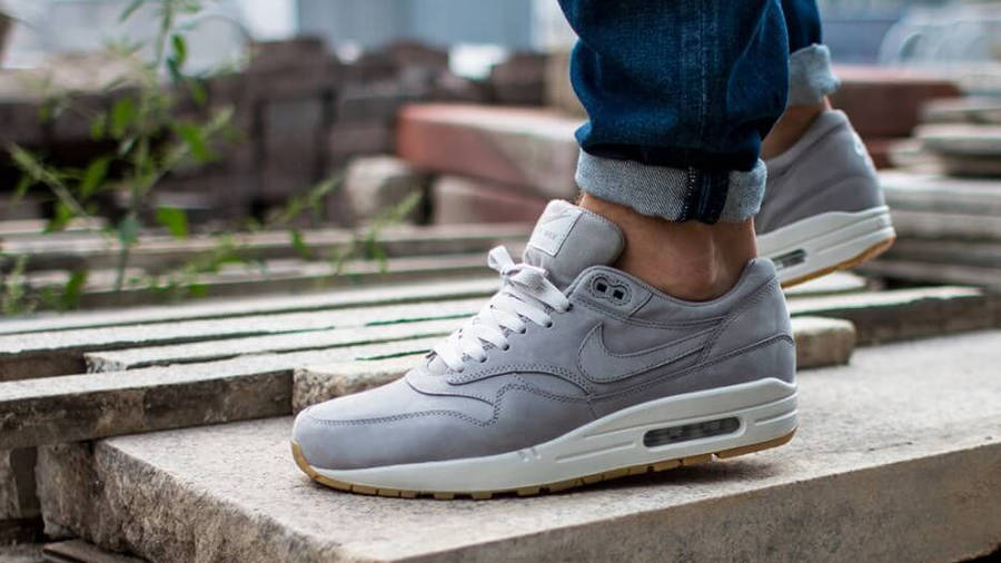 Nike Air Max 1 LTR PRM Grey | Where To Buy | 705282-005 | The Sole ...
