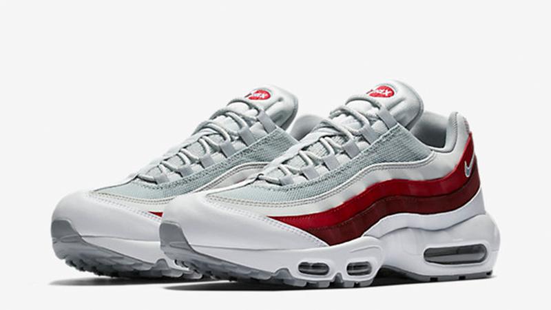 Nike Air Max 95 White Team Red