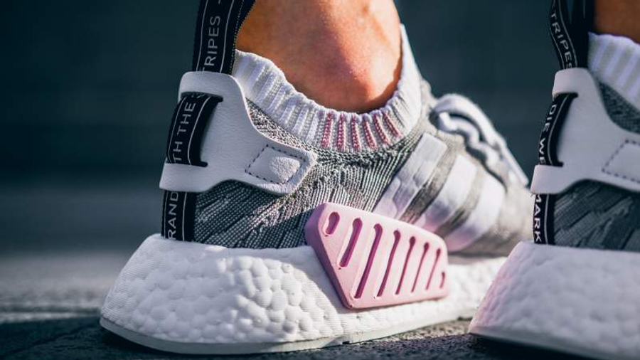 adidas NMD R2 Primeknit Grey Pink | Where To Buy | BY9520 | The ...