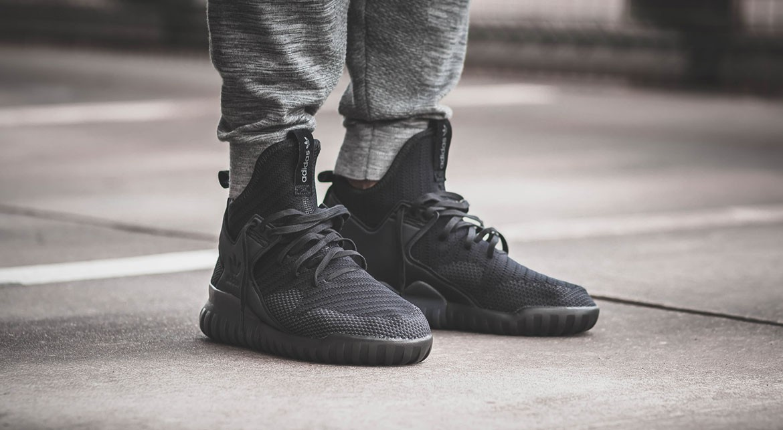 adidas originals tubular x primeknit sneakers in black by