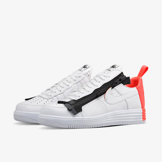 Acronym x NikeLAB Lunar Force 1 SP White Crimson Where To