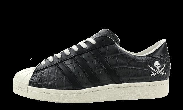 adidas superstar crocodile noir