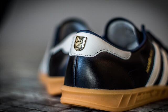 adidas hamburg navy gum sole