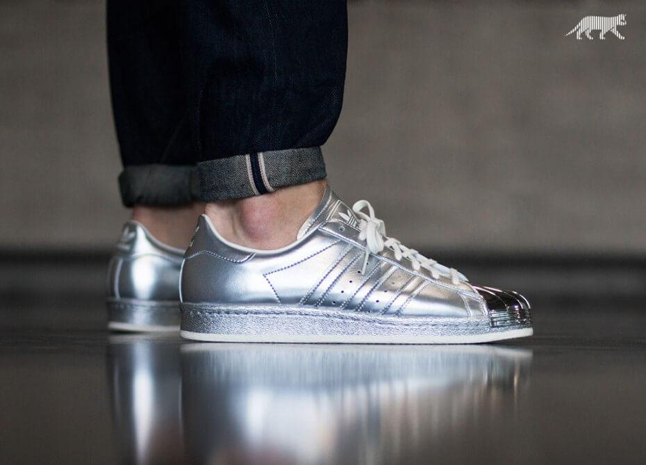 adidas superstar j w metallic silver