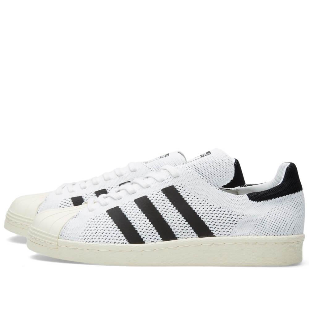 adidas Superstar 80s Primeknit White Black