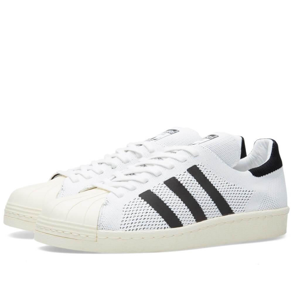 adidas superstar 80s primeknit - black / white