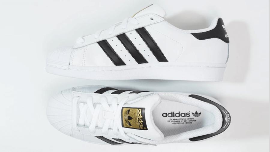 adidas Superstar White Gold Tongue