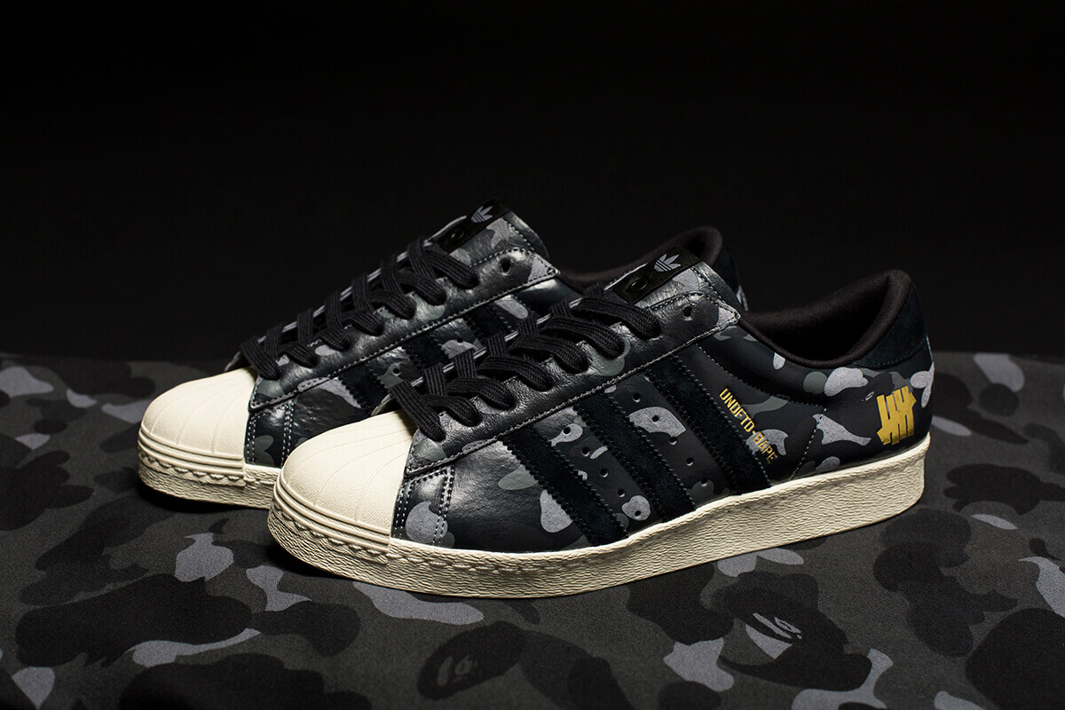 adidas X UNDFTD X BAPE Superstar 80V Black