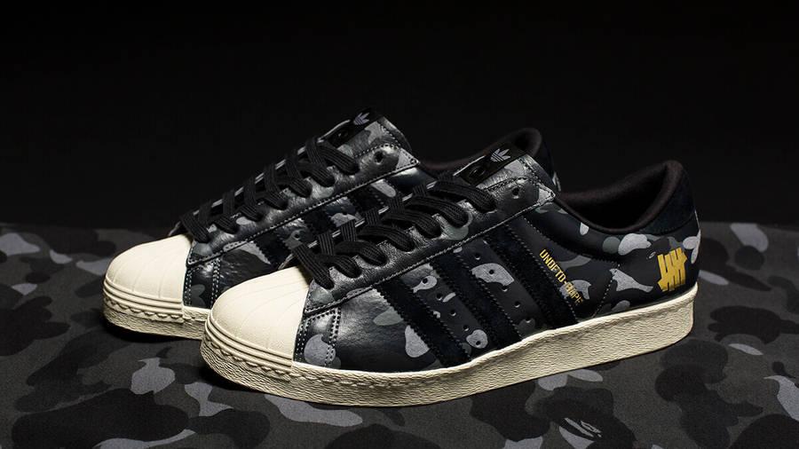 adidas X UNDFTD X BAPE Superstar 80V Black | Where To Buy | S74774 ...