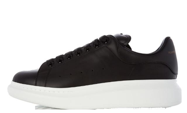Alexander-Mcqueen-Raised-Sole-Low-Black-Leather