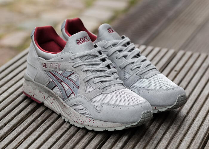 asics gel lyte grey red
