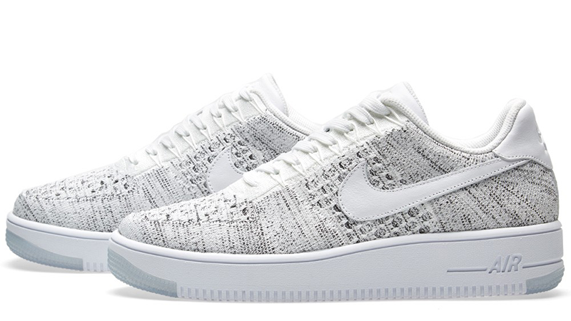 Nike Air Force 1 Flyknit Low White White Black