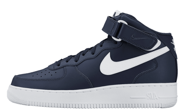 Nike Air Force 1 Mid Midnight Navy