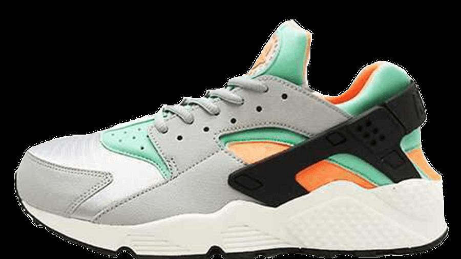 Nike Air Huarache Green Orange   Where