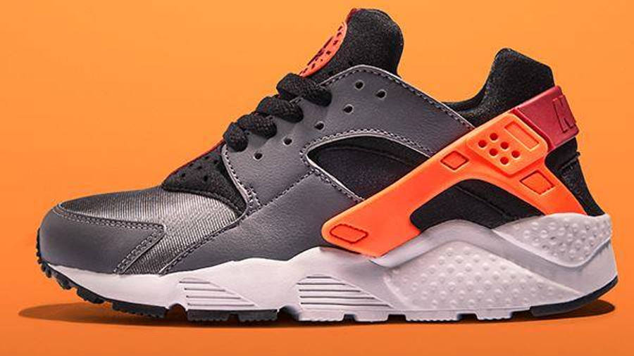 Nike Air Huarache Junior Grey Orange Black | Where To Buy ...