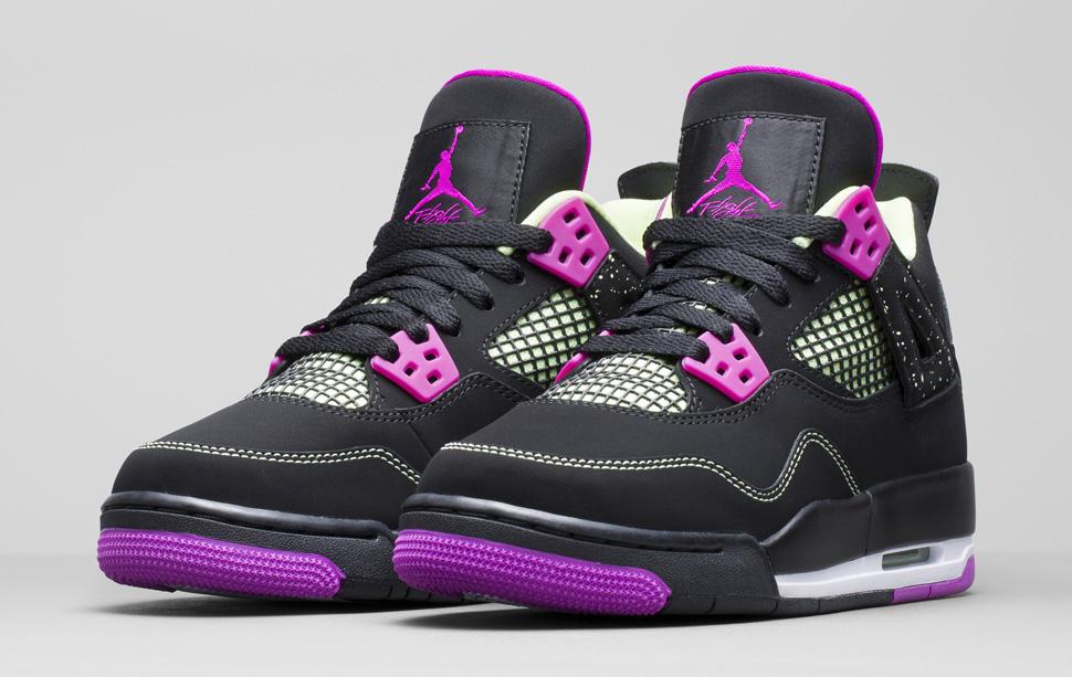 jordan 4 pink and black