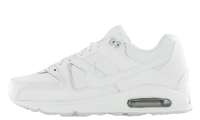 Nike Air Max Command Leather White Metallic Silver
