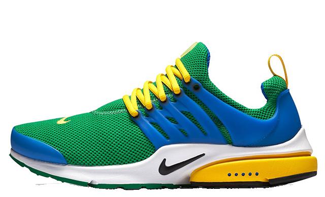 Nike Air Presto Green Blue Yellow