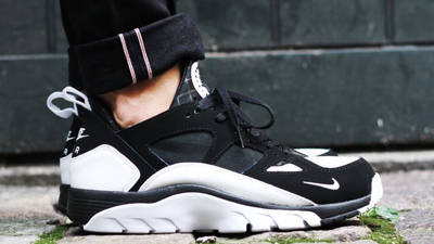 Nike Air Trainer Huarache Low Black White   Where To Buy   749447 ...