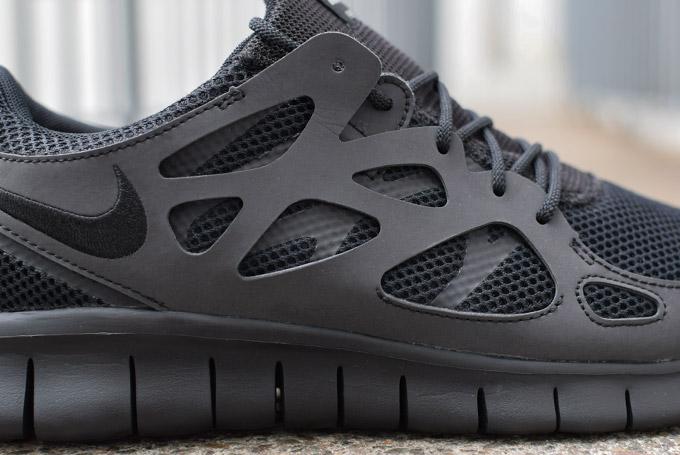 Womens Nike Free Run 2 Trainers Black