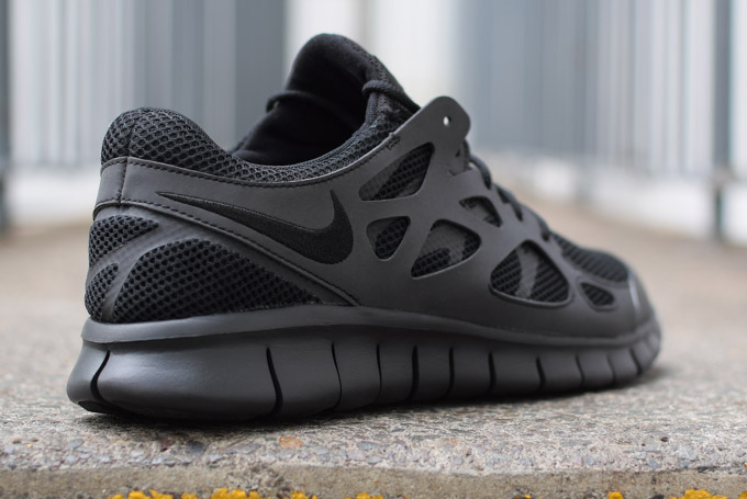 all black nike free run 2 for sale