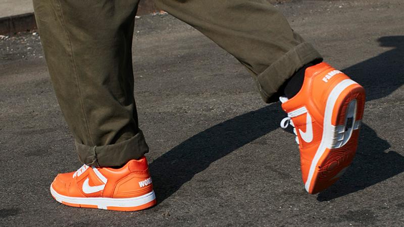 Supreme x Nike SB Air Force 2 Pack Orange Where To Buy