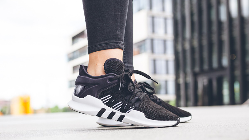 womens adidas eqt support adv black and white