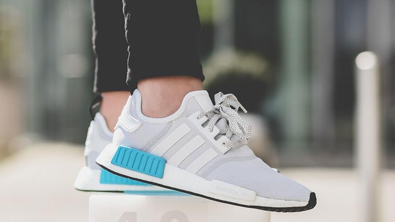 nmd adidas white blue