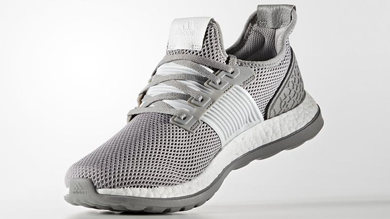 New adidas Pure Boost ZG Shoes Energy AQ6766 Black Gray White Ultra Prime Sz 8