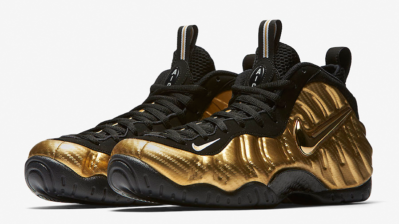 black and gold foamposite