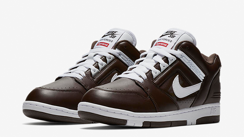 Supreme x Nike SB Air Force 2 Pack Brown Where To Buy