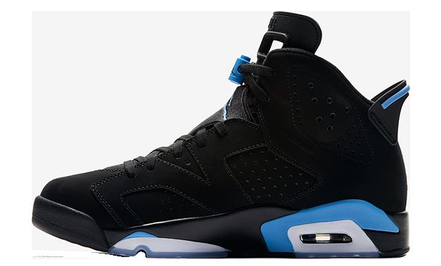 Jordan 6 UNC Black University Blue 384664-006
