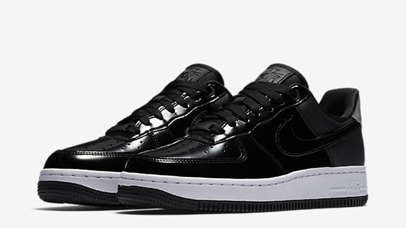 nike air force black shiny
