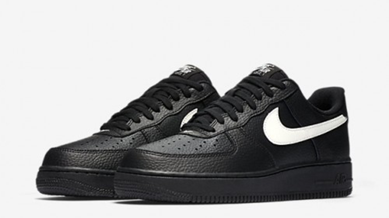 nike air force low black and white