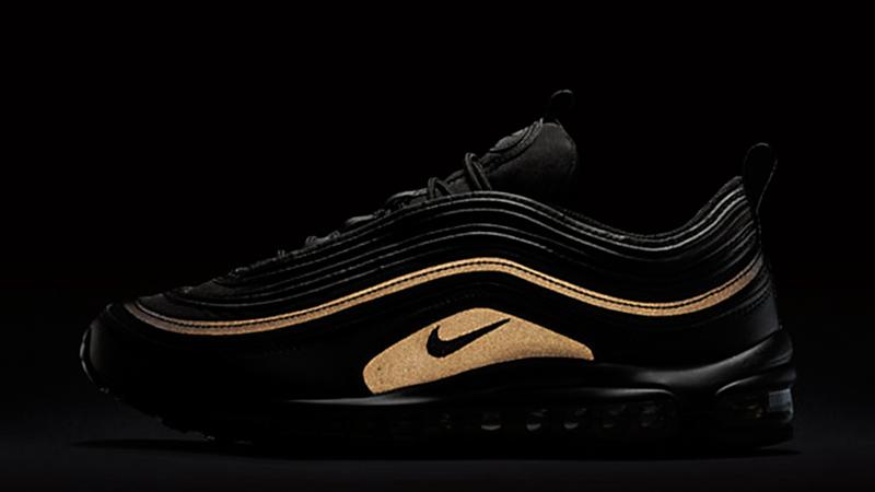 nike air max 97 black and gold