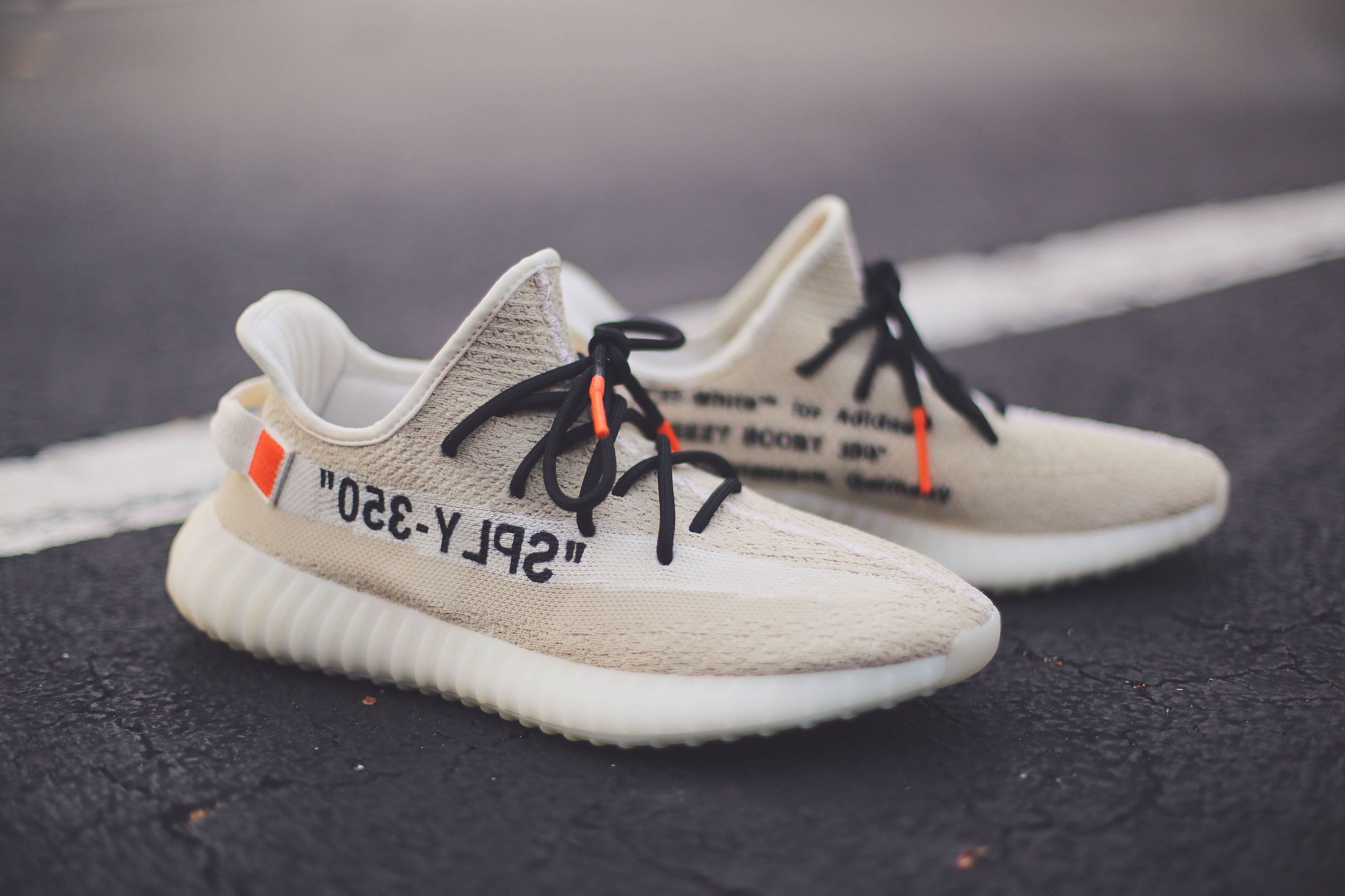 These Off White x adidas Yeezy Boost 350 V2 Customs Are Pure