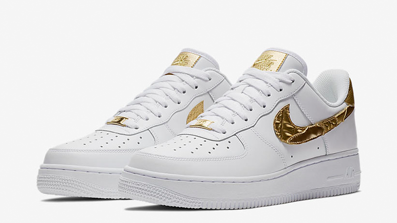 difícil Misionero Adjuntar a  Nike Air Force 1 CR7 Golden Patchwork | Where To Buy | AQ0666-100 | The  Sole Supplier