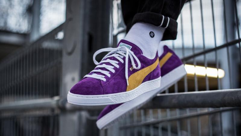 puma suede classic violet cheap online