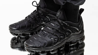 Nike Air VaporMax Plus Triple Black On Foot