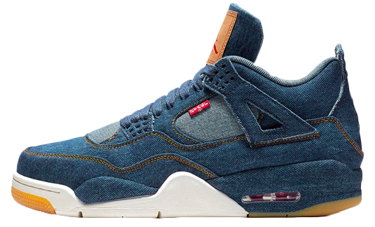 Levis x Nike Air Jordan 4 Navy