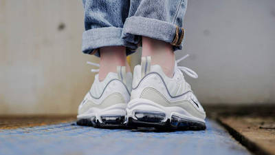Nike Air Max 98 White Fossil Womens | Where To Buy | AH6799-102 ...